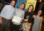Entrega do Prêmio GRPCOM de Criação, 2014, Foz do Iguaçu, Paraná. No Taj Bar. Agência Xok